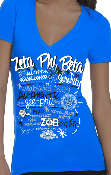 Zeta Phi Beta Deep V-Neck Tee